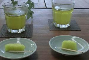 緑茶とメロン